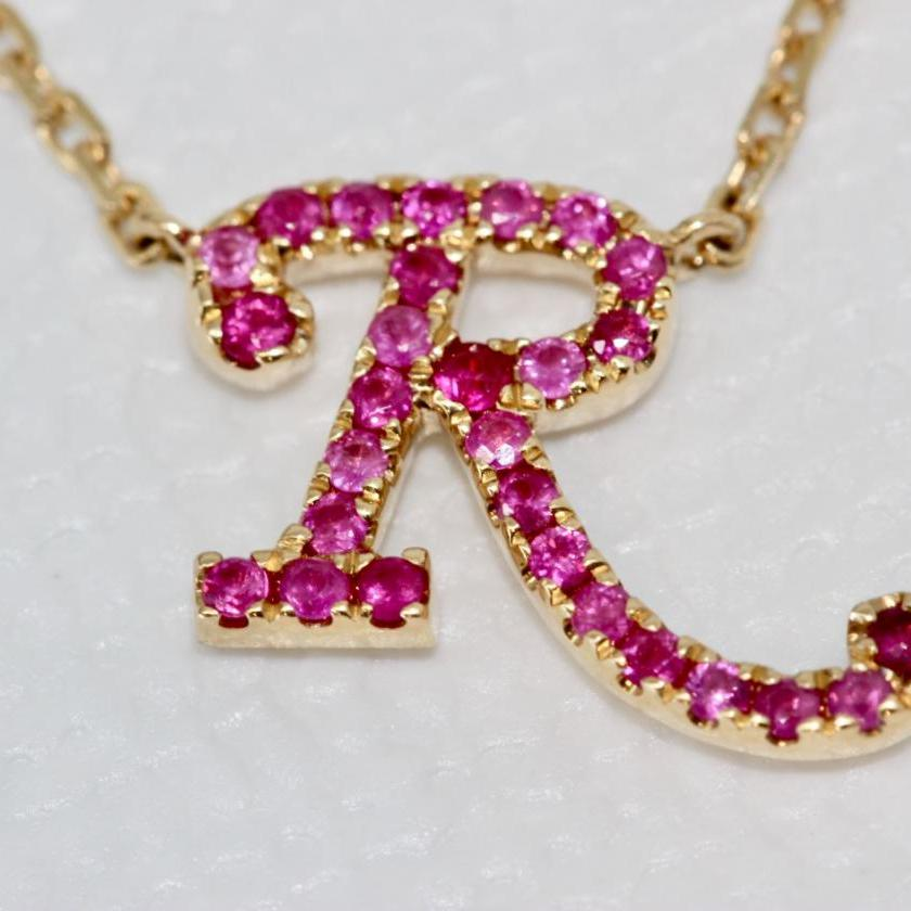 14ct Yellow Gold Initial R Pendant