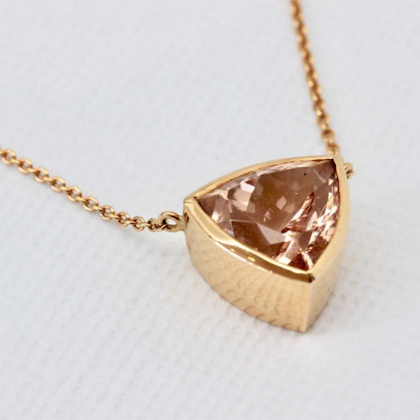 18ct Rose Gold Morganite Necklet