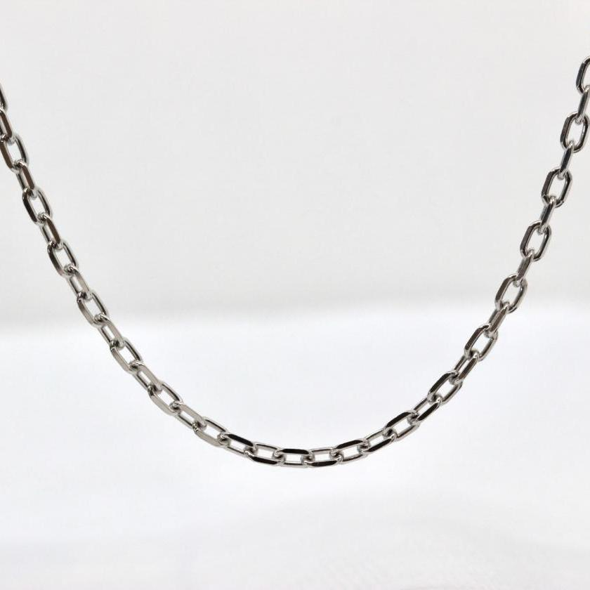 18ct White Gold Greek Link Chain