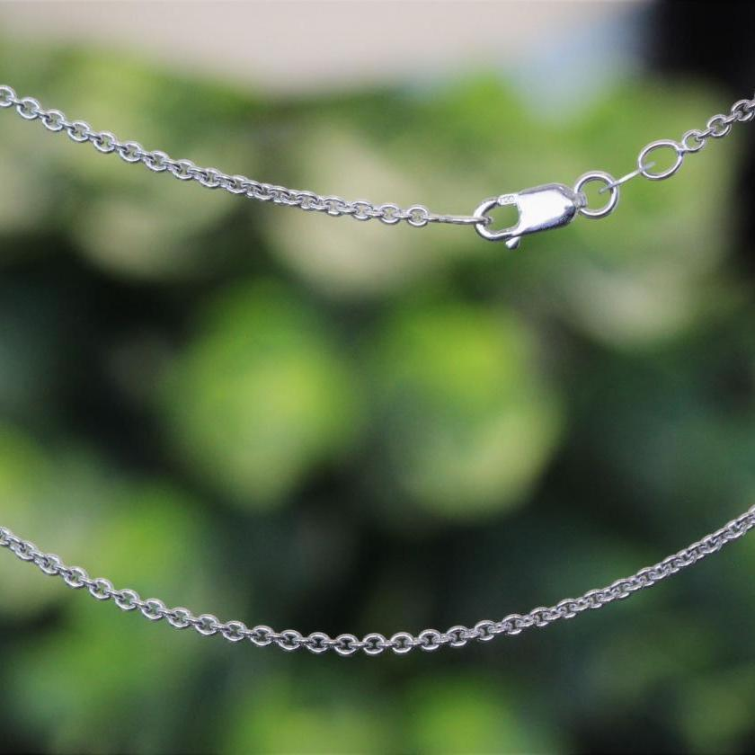18ct White Gold Cable Link Chain