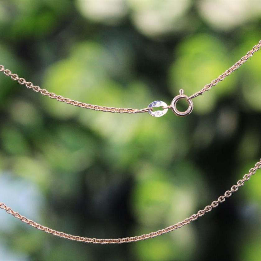 18ct Rose Gold Belcher Chain