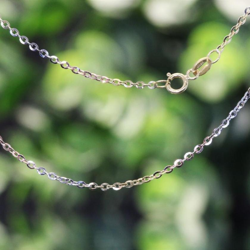 18ct 3 Tone Cable Link Chain