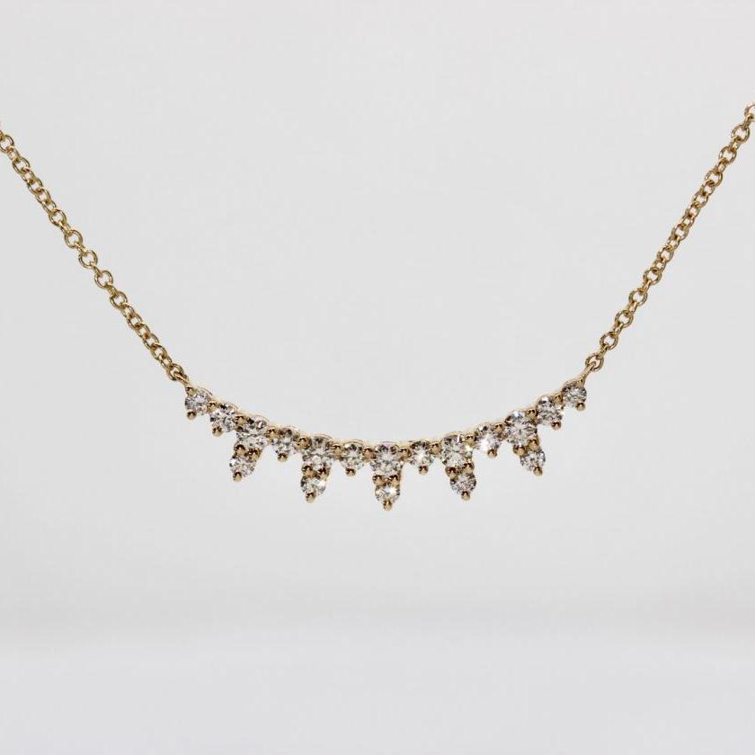 14ct Yellow Gold Diamond Necklet