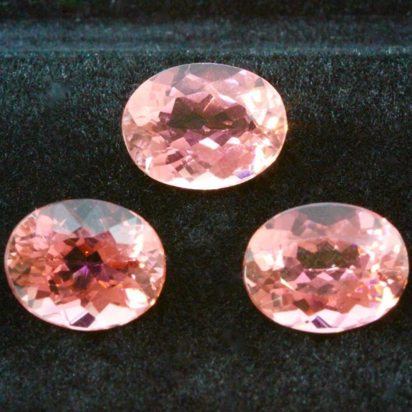 Set of Three Oval Cut Tourmalines