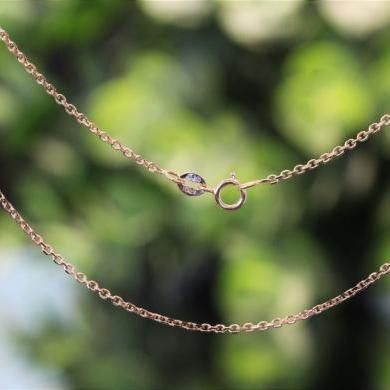 18ct Rose Gold Diamond Cut Cable Link Chain