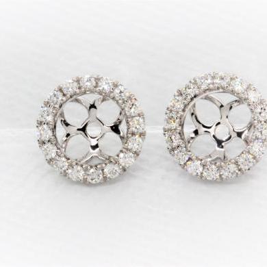 18ct White Gold Diamond Halos