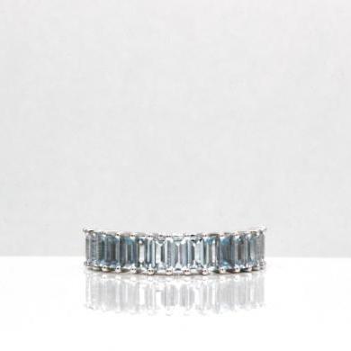 14ct White Gold Aquamarine Ring