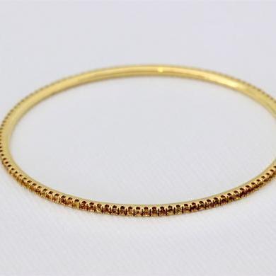 18ct Yellow Gold Sapphire Bangle